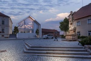 Vizualizace inovačního centra B4I v Dolních Břežanech
